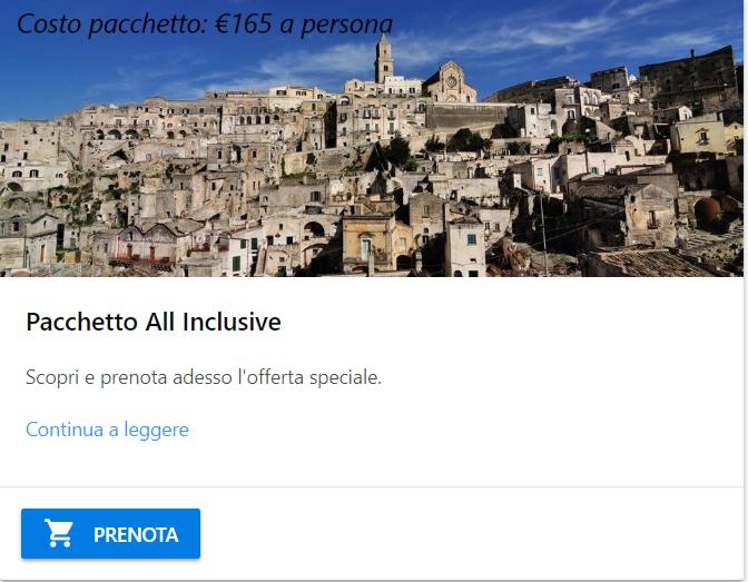 Hotel Matera Pacchetto All Inclusive