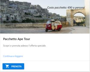 Pacchetto Ape Tour a Matera